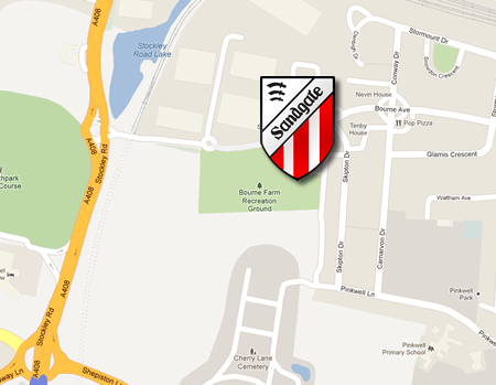 Map to Sandgate FC