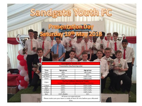 Presentation Day Saturday 19th May 2018